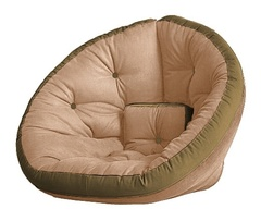 Кресло Farla Lounge Бежевое с оливковым