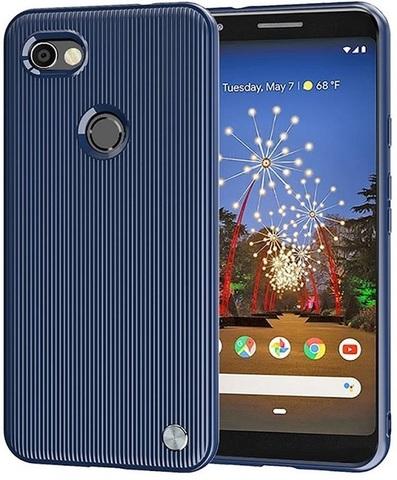 Чехол на Google Pixel 3a цвет Blue (синий), серия Bevel от Caseport