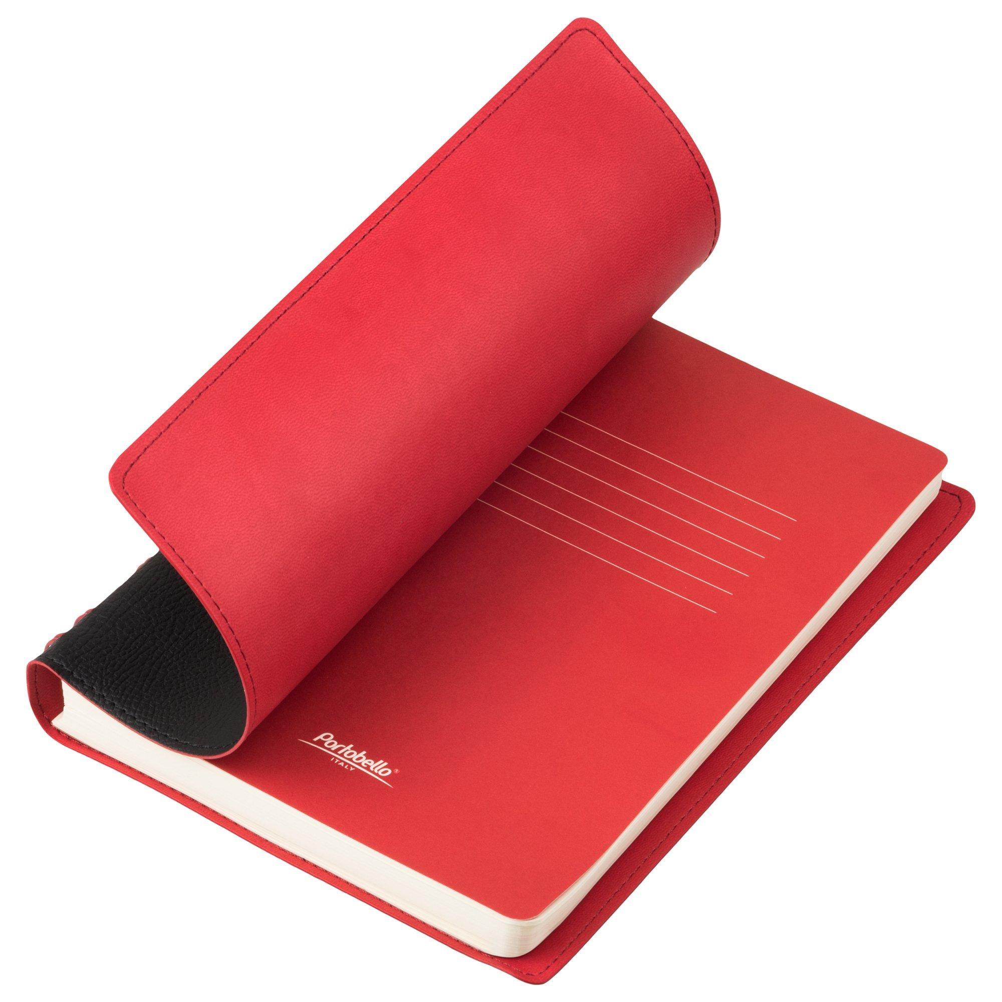 Ежедневник недатированный, Portobello Trend, Vista, 145х210, 256 стр, черный/красный