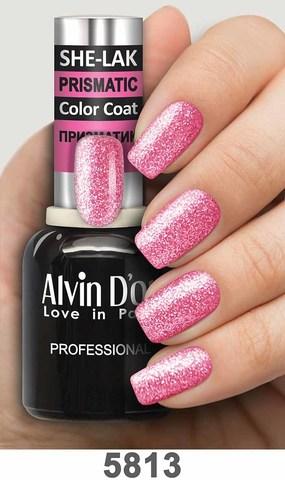 Alvin D`or Лак для ногтей SHE-LAK PRISMATIC  тон 5813 -8мл