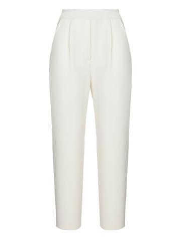 Женские брюки молочного цвета из шерсти и кашемира - фото 1