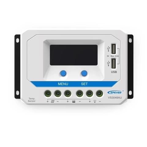 Контроллер заряда EPSolar VS6048AU (PWM, 60A, 12/24/48В, LCD дисплей, USB)