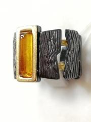 Тимора-черный(кольцо  из серебра)