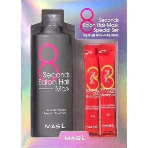 MASIL 8seconds Salon Hair Mask Set набор восстанавливающая маска и шампунь в саше