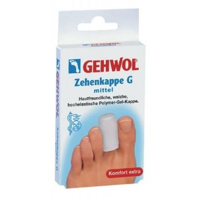 Gehwol (Геволь) - Супинаторы Гель-полимер: Гель-колпачки G на палец (Zehenkappe G), 2шт, мини/малый/средний
