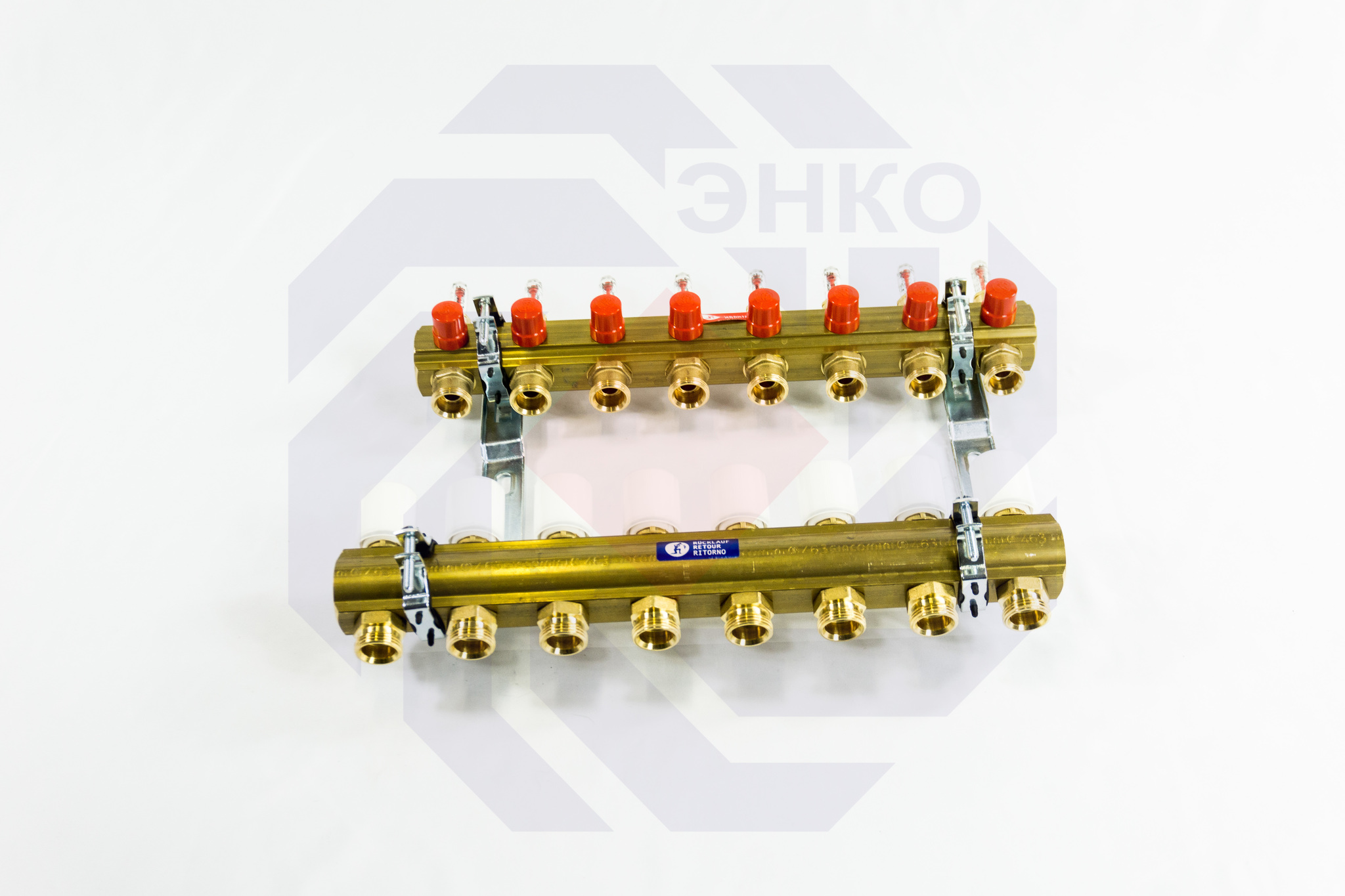 Комплект коллекторов с расходомерами GIACOMINI R553F 8 контуров