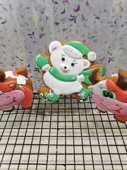 Мишка №9 на коньках