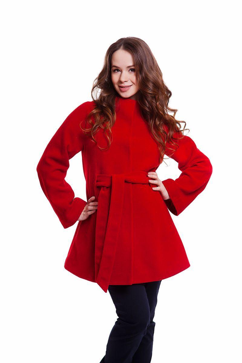 Пальто для беременных 05218 красный