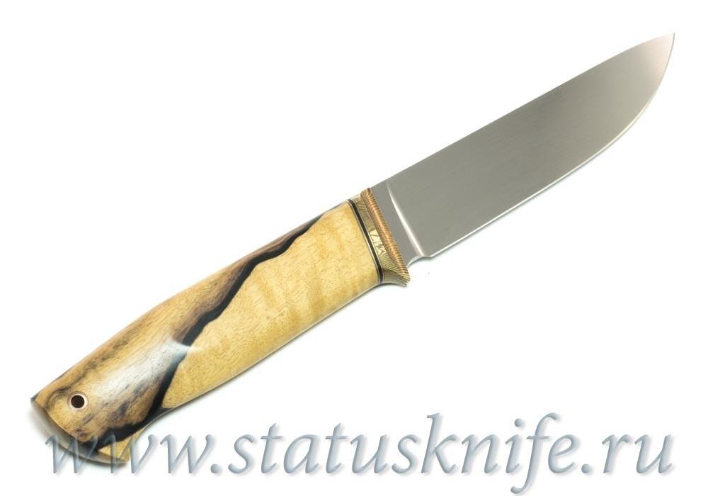 Нож авторский S125VN Мокуме Лунный Эбен - фотография