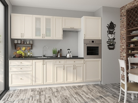 Кухня Шале-2 белый, ivory