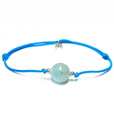 5th Chakra bracelet with Aquamarine