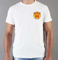 Футболка с принтом FC Manchester United (ФК Манчестер Юнайтед) белая 0020