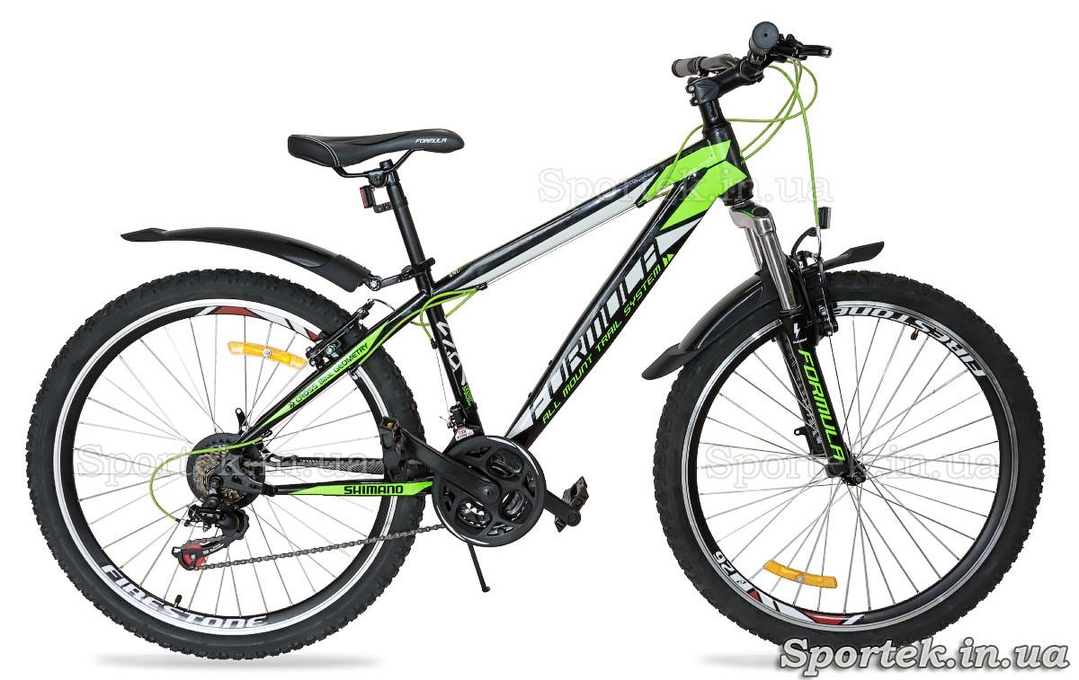 Міський велосипед Formula Nevada чорно-зелено-білий