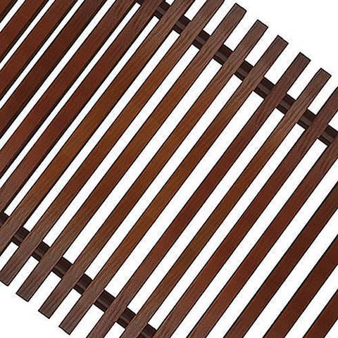 Решетка поперечная деревянная Techno шириной 300 мм, длина 2400 мм (цвет темное дерево)