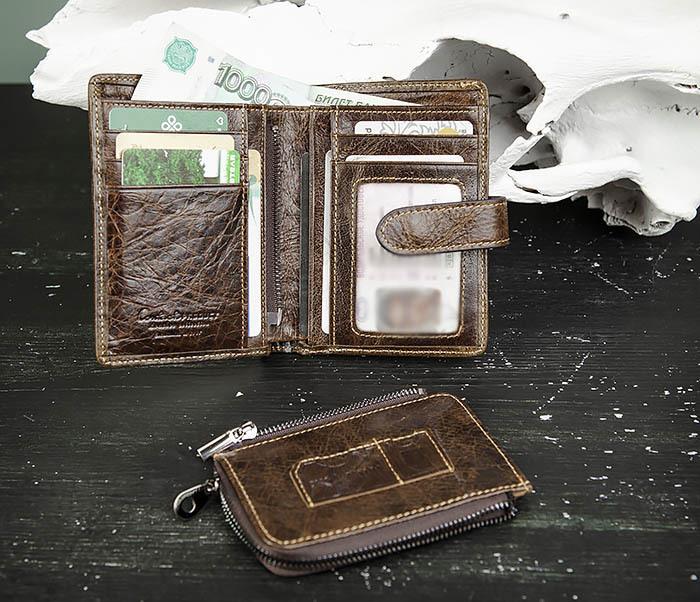WL287-2 Мужское портмоне из кожи с монетницей фото 07