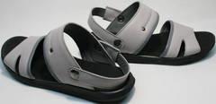 Летние мужские босоножки шлепки модные Ikoc 3294-3 Gray.