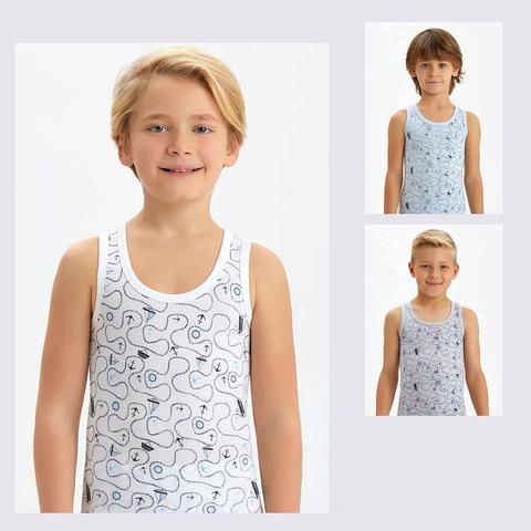 Майка хлопок мальчику (1-16) 201209-B2650