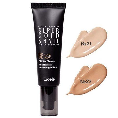 ЛЛ ББ Крем Lioele Super Gold Snail BB, SPF50+ PA+++ #23 Warm Beige