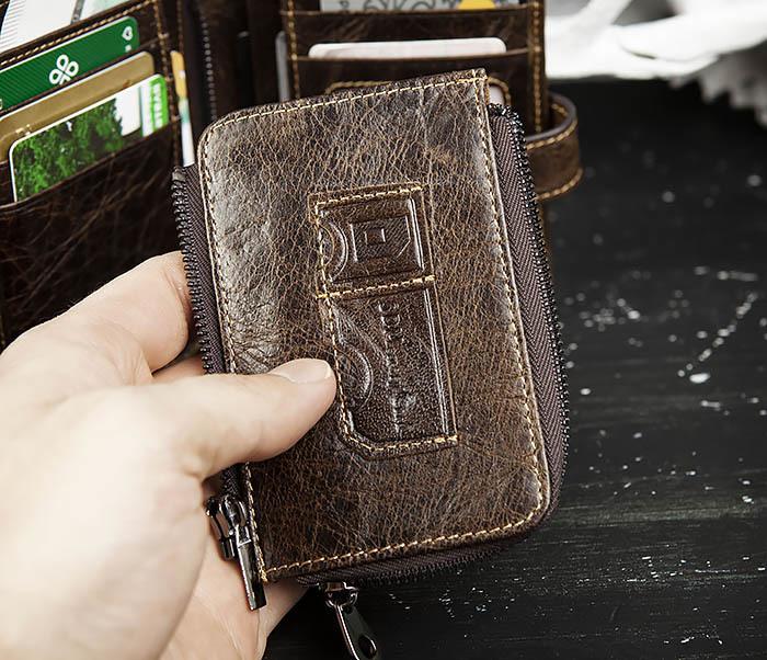 WL287-2 Мужское портмоне из кожи с монетницей фото 08