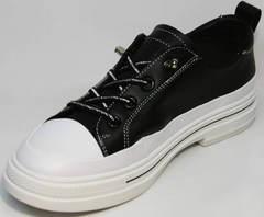Модные женские туфли кроссовки городские El Passo sy9002-2 Sport Black-White.