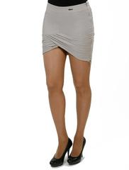 5401-4 юбка светло-серая