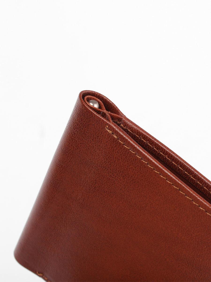 B120356R Cognac - Зажим для купюр с монетником и RFID защитой MP