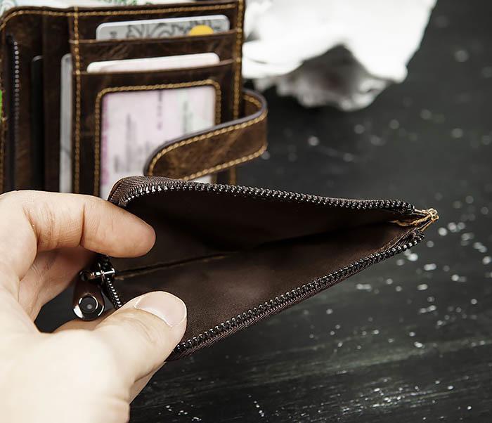 WL287-2 Мужское портмоне из кожи с монетницей фото 09
