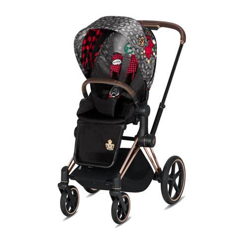 Прогулочная коляска Cybex Priam III FE Rebellious шасси Rosegold