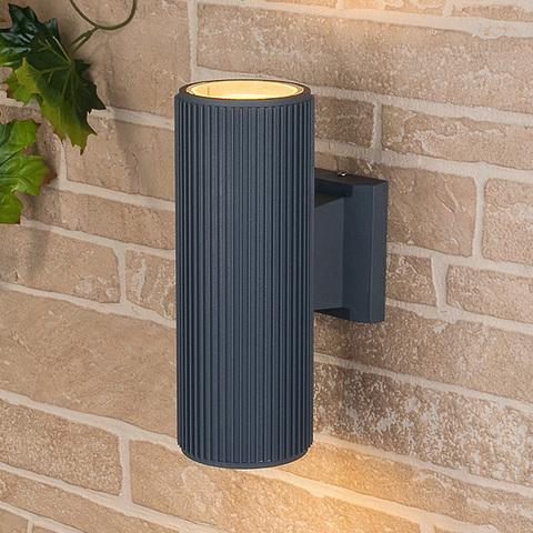 Уличный настенный светильник 1403 TECHNO серый