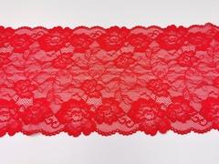 Эластичное кружево, ОПТ, красное, 22 см, (Арт: EK-2182), м
