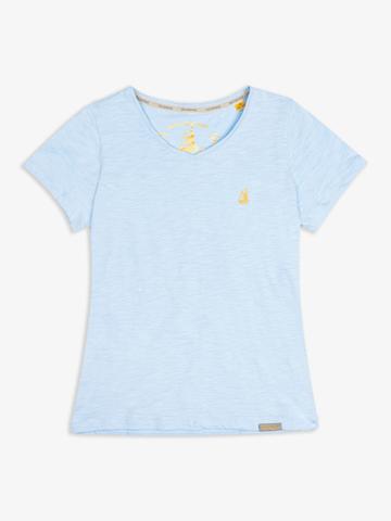 Женская футболка «Великоросс» небесно-голубого цвета