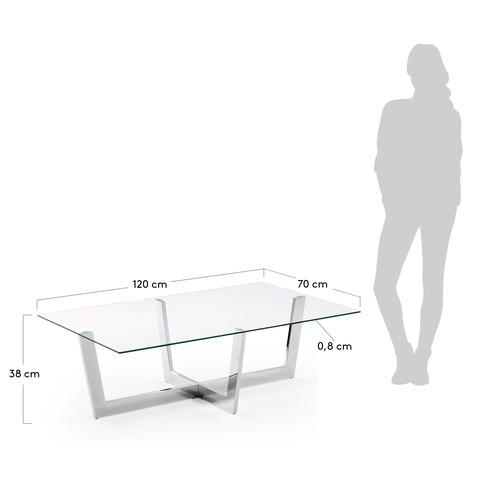 Журнальный столик Plum хромированный