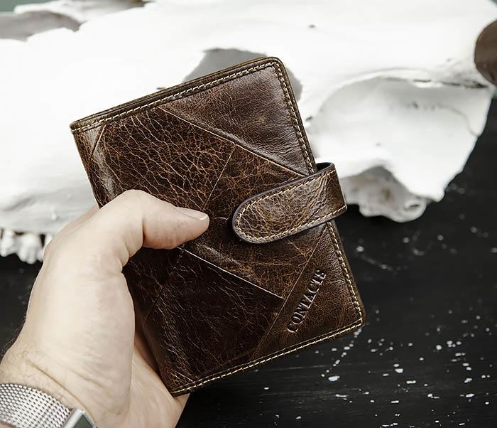 WL287-2 Мужское портмоне из кожи с монетницей фото 10