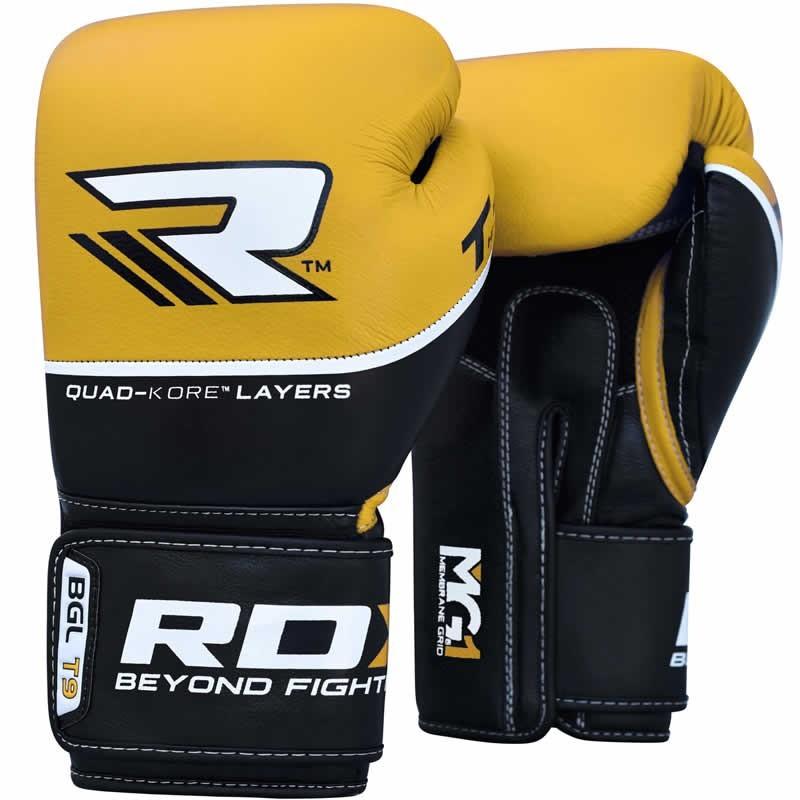 Перчатки Перчатки для бокса RDX Boxing Glove BGL-T9 Yellow 1.jpg