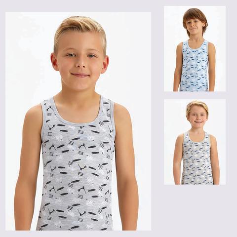 Майка хлопок мальчику (1-12) 201209-B2654
