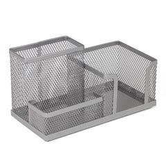 Подставка-органайзер, металлическая, 3 секции, 102*186*95 мм, серебристая