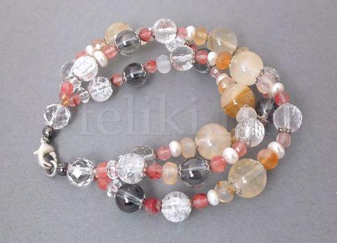 браслет из кварца_многорядный песочный браслет_фото