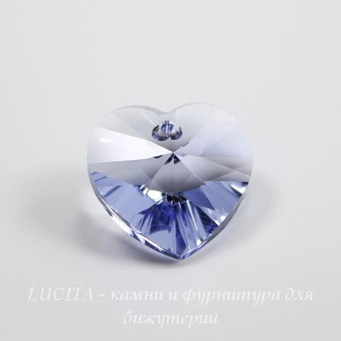 6228 Подвеска Сваровски Сердечко Provence Lavender (18х17,5 мм)