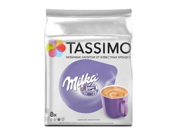 Какао в капсулах Milka, 8 капсул для кофемашин Tassimo