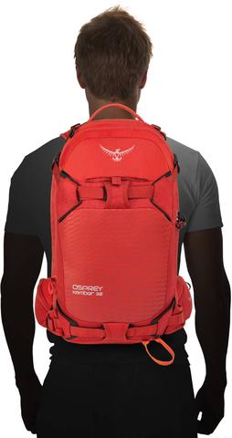 Картинка рюкзак горнолыжный Osprey Kamber 32 Ripcord Red - 5