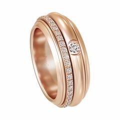13096 - Кольцо из золочёного серебра с двигающимся центром