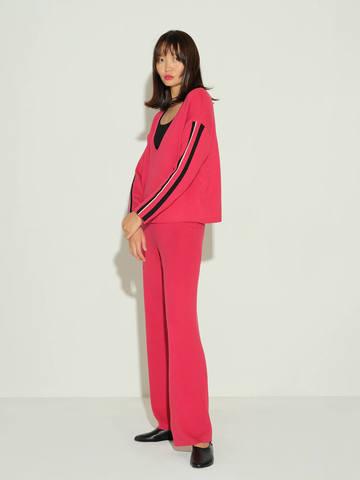 Женский джемпер красного цвета из шелка и кашемира - фото 3