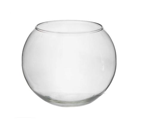Стеклянная шаровая ваза для букетов (3л)