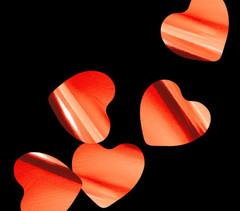 Конфетти металлизированное Сердца красные, 3,5*4 см, 250 гр, 1 уп.