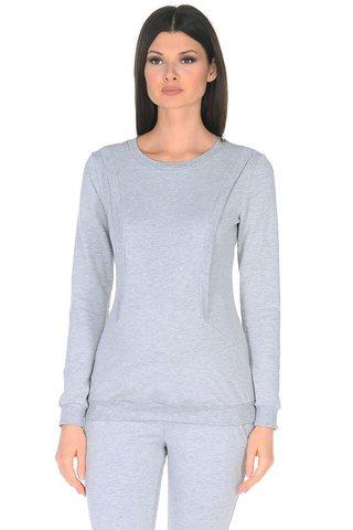 Свитшот для беременных и кормящих 10182 светло-серый