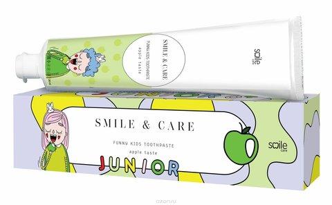 Зубная паста детская яблоко SMILE & CARE JUNIOR Aplle, 30 ml