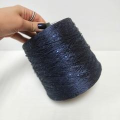 Полиамид 100%, Очень темно-синий с пайетками, 600 м в 100 г