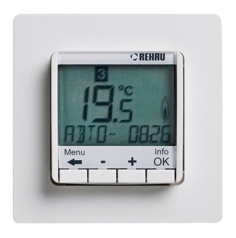 Rehau Sololec Optima терморегулятор 10 A с цифровым дисплеем (12029231100)