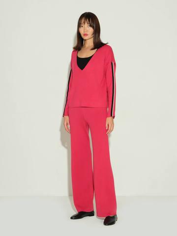 Женский джемпер красного цвета из шелка и кашемира - фото 4