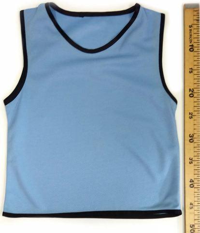 Манишка футбольная детская голубая размер
